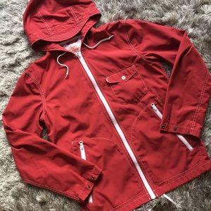 Levi's Red Rain Jacket Oversized